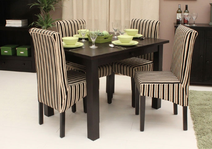 Ideas of small dining tables ... small square black dining table with striping chairs ... vrkhdmh