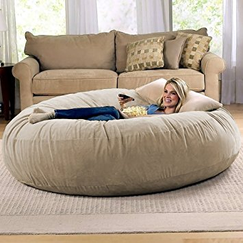 Images of bean bag chairs for adults jaxx 6 foot cocoon - large bean bag chair for adults, camel mqkzuuh
