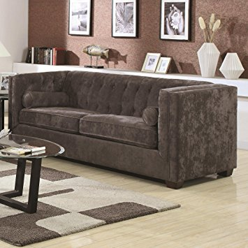 Images of coaster alexis transitional chesterfield sofa in charcoal wrfvrgt