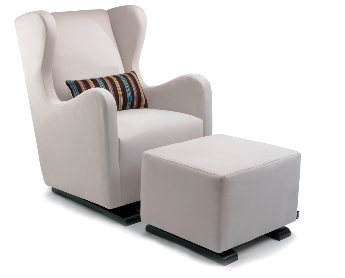 Images of glider chair modern vola glider and ottoman - stone with paul smith pillow fabric shown. arihexy