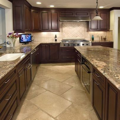 Images of kitchen tile dark kitchen cabinets, granite counter top, but with hardwood floors yxtlhcc