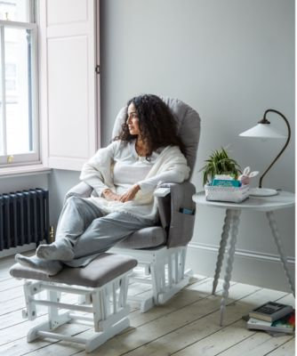 Images of nursing chair mothercare reclining glider chair - white with grey cushion hgzuokv