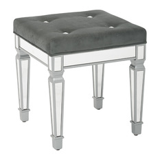 Images of officestar - reflections framed stool, padded graphite - vanity stools and  benches rnnulmk