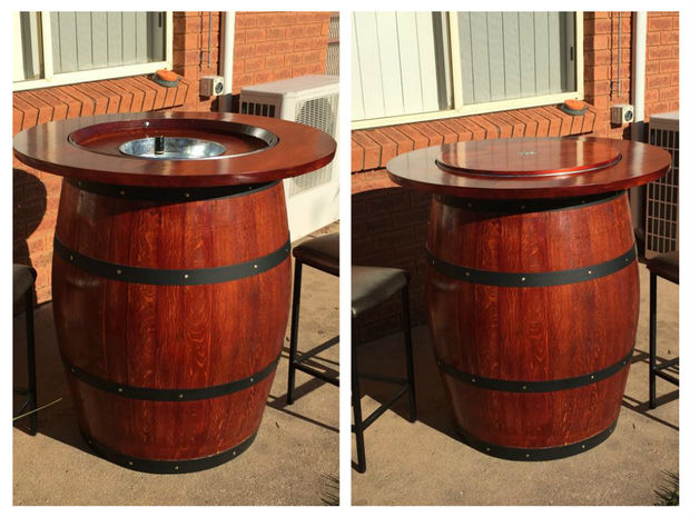 Images of wine barrel furniture introduction: how to make a wine barrel table with a built in wine chroshz
