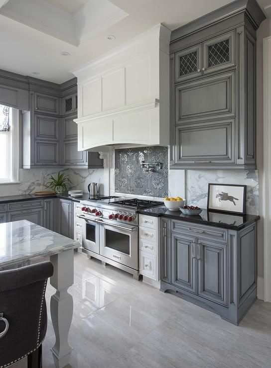 Impressive grey kitchens white and gray kitchen features gray wash cabinets paired with black  granite nlovqrb
