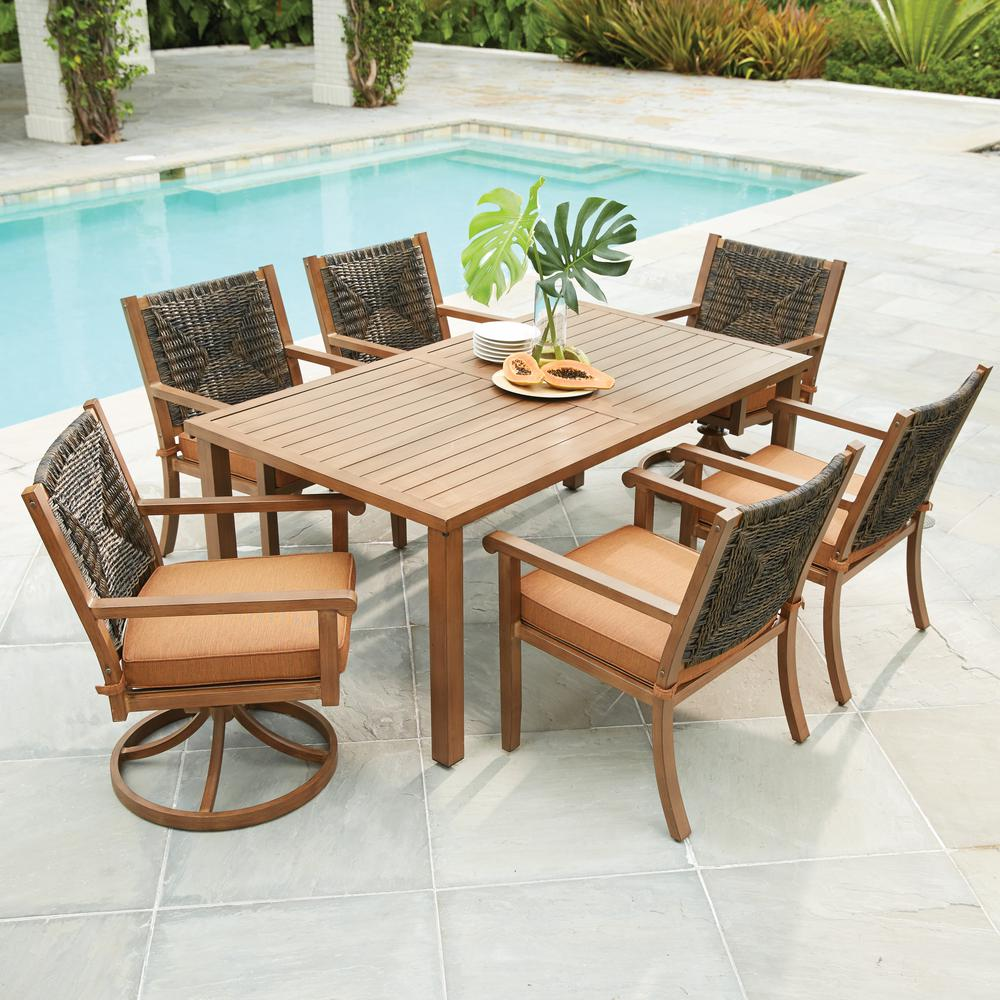 Impressive outdoor dining sets hampton bay belleville 7-piece padded sling outdoor dining set-fcs80198cst  - the home dyczsat