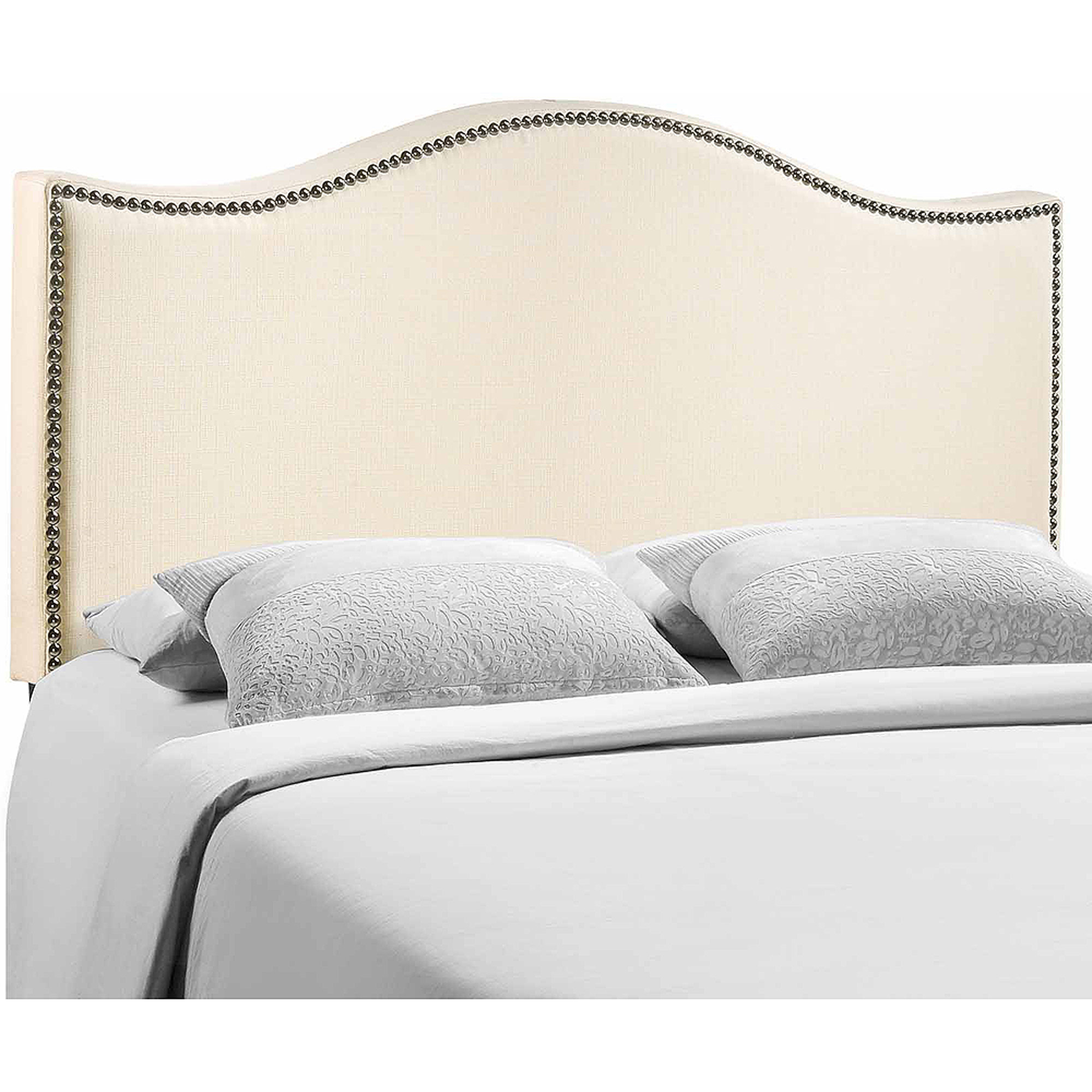 Inspiration better homes and gardens scalloped wingback tufted upholstered headboard  king/cal sand - oqmycgn