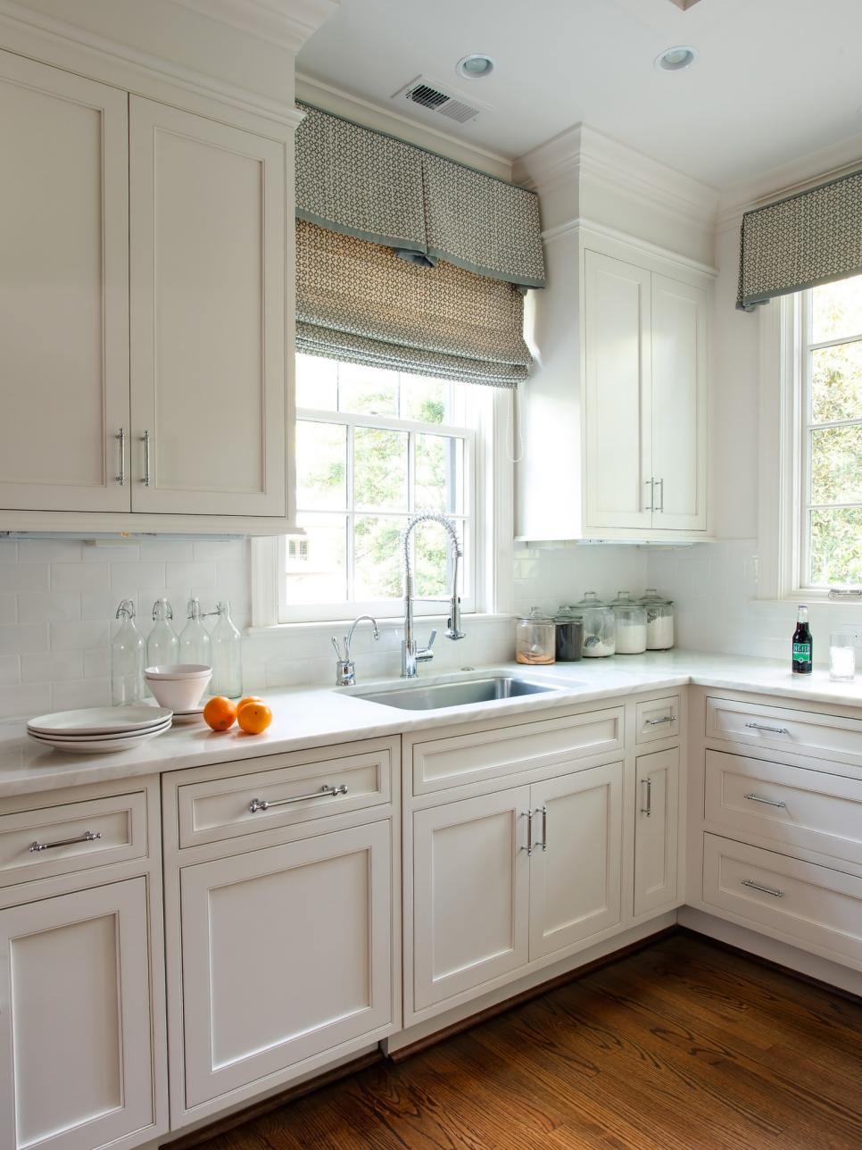 Inspiration kitchen window treatments coordinated charm. fabric-based window treatments ... sawwgvs