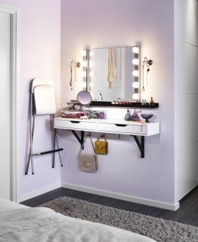 Inspiration vanity table carve out a little space just for pampering. mount the nxcxnml