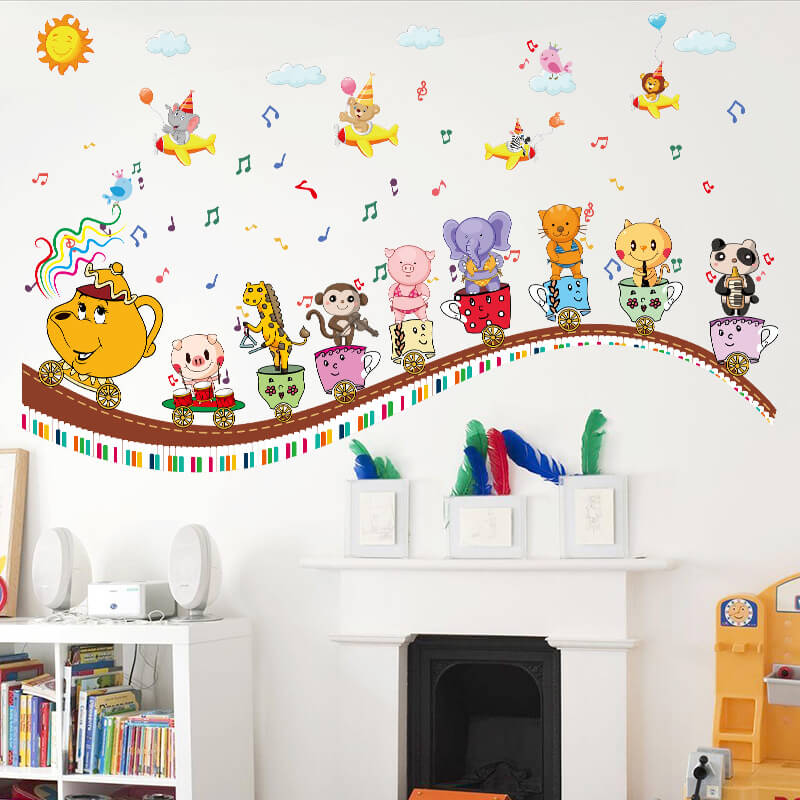 Rooms with wall stickers for kids