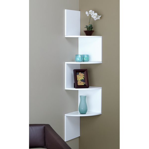Interior brayden studio 4 tier corner shelf u0026 reviews | wayfair npsazox