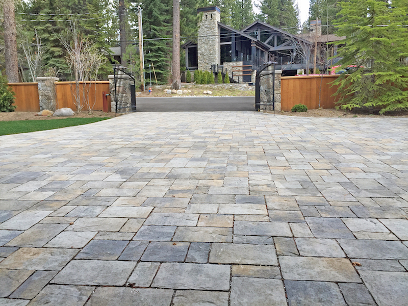 All about concrete pavers at home