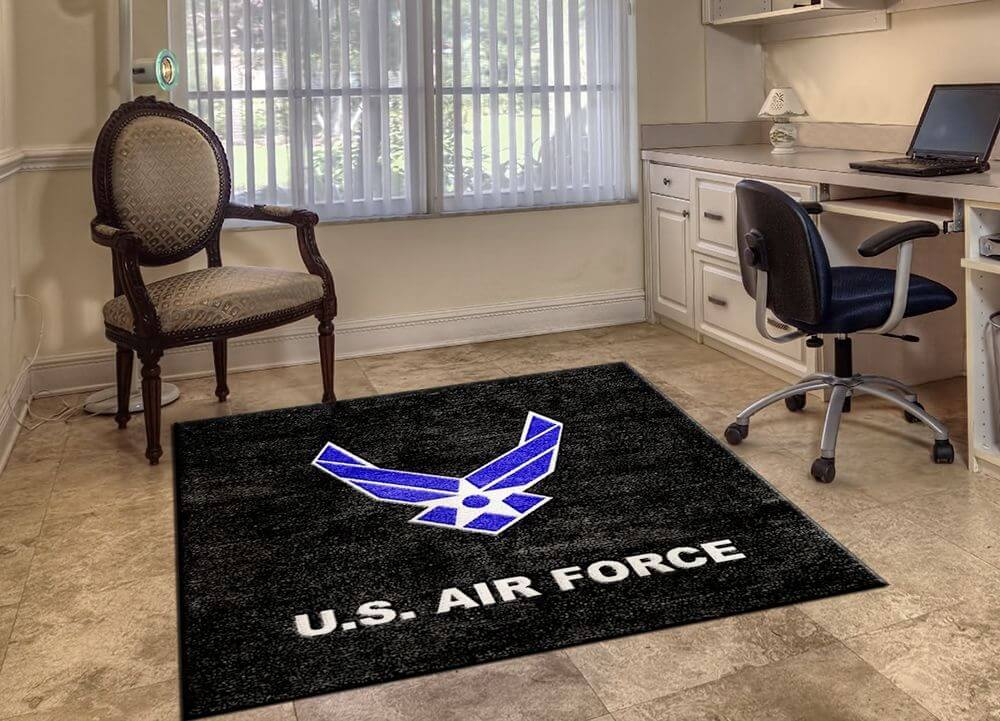 Interior custom rugs military logo rugs vljiqnh