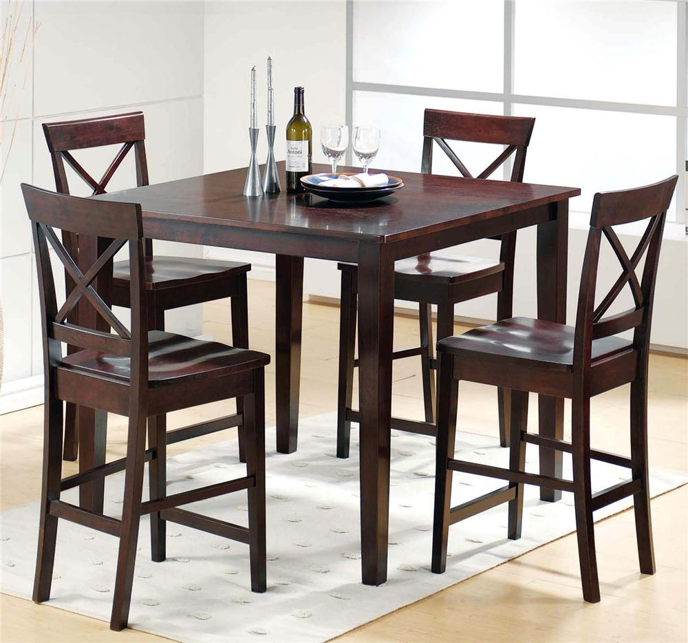 Interior pub table and chairs steve silver cobalt 5 piece pub table u0026 chair set - item number: hcentzp