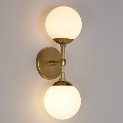 Interior sconce lighting mod globe two-light linear sconce bbdxyze