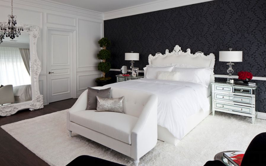Luxury black and white bedroom 35 timeless black and white bedrooms that know how to stand out sgscunj