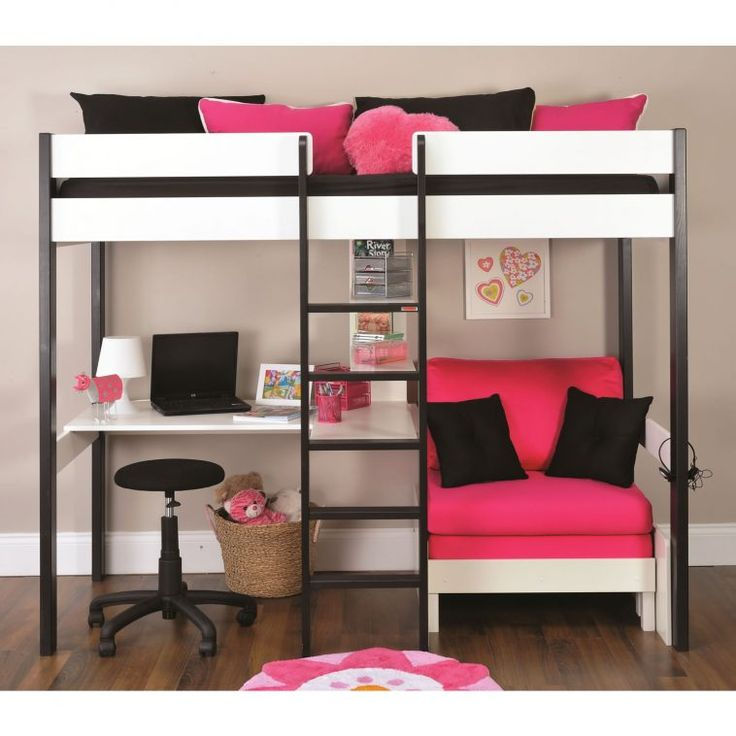 Luxury bunkbeds black and white girls bunk bed with pink futon sofa bed as well rkxsbho