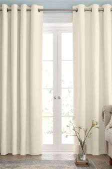 Luxury cream curtains cotton eyelet lined curtains studio collection by next kjrmsjd