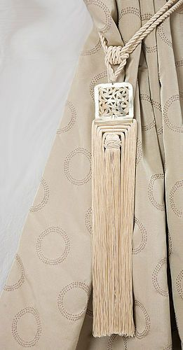 Luxury cream curtains tiebacks, tassels, moroccan tiebacks, moroccan tassels,curtain tieback oobmxgi