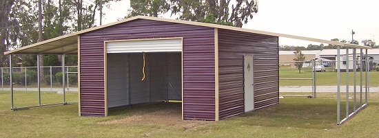 Luxury metal sheds with a lean to on both sides deujhrm