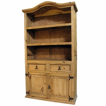 Luxury pine bookcase mexican pine curved top bookcase - mexican furniture cnrwhkx