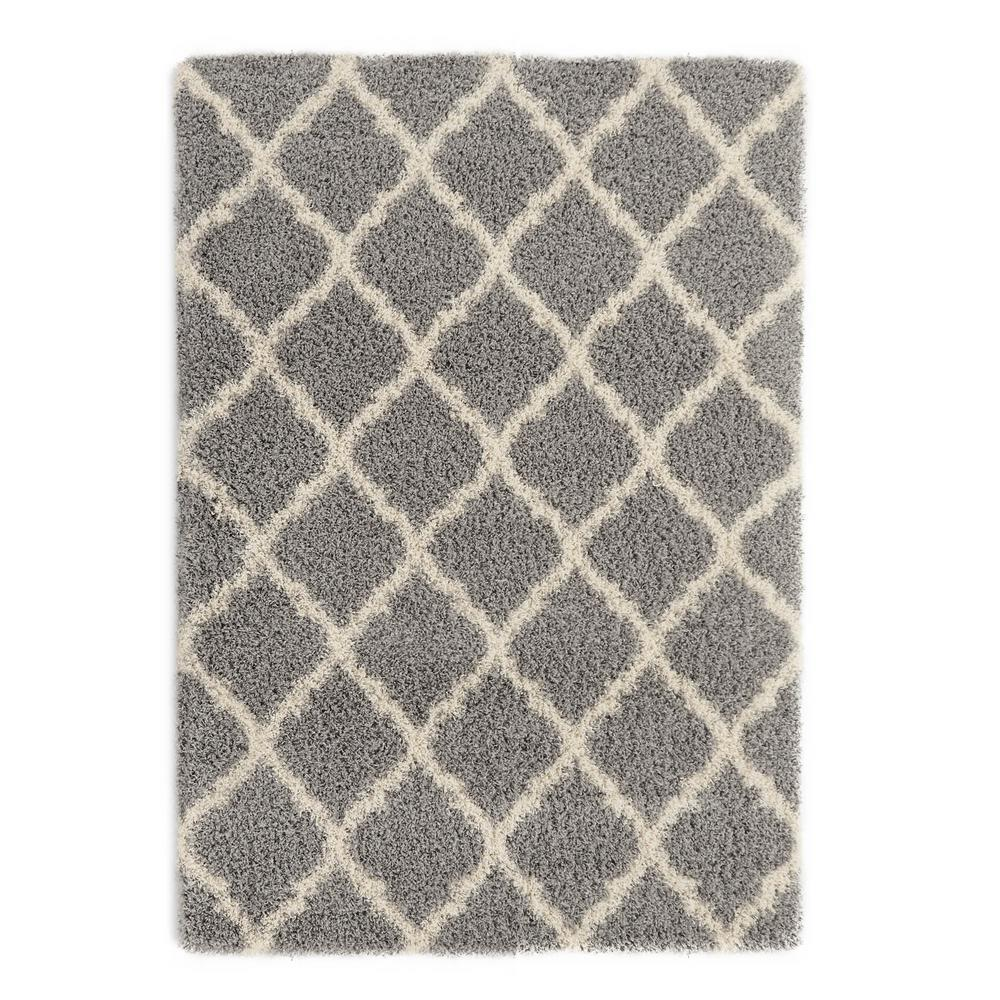 Luxury shag rugs this review is from:ultimate shaggy contemporary moroccan trellis design  grey 7 ft. hdlaswo
