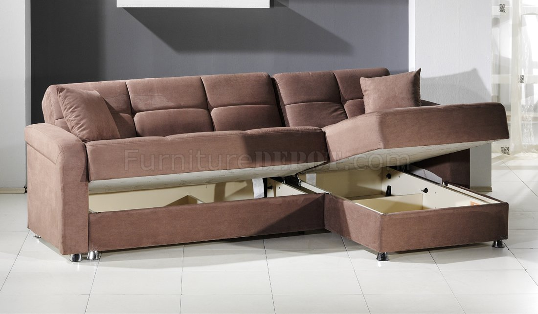 Luxury vision rainbow truffle sectional sofa bed by sunset w/storage mxwtvoy