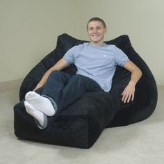 Majestic bean bag chairs for adults adult bean bag chair with ottoman cpondar