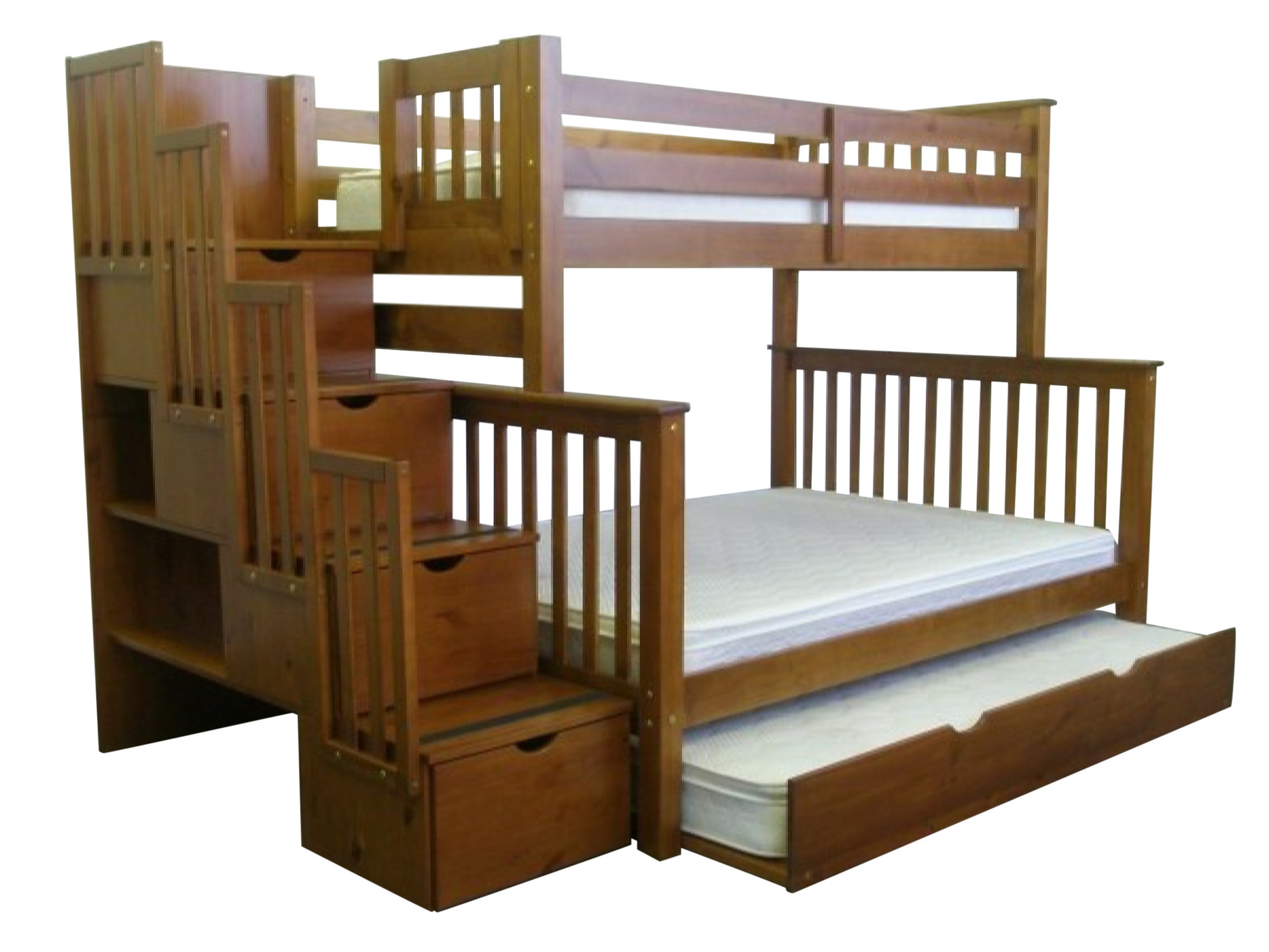 Majestic bunk beds with stairs bedz king twin over full stairway bunk bed pksnlit