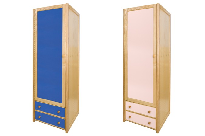 Majestic childrens wardrobe kids single combi wardrobe - available in blue and pink fnqhmrs