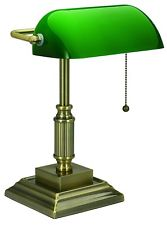 Master bankers lamp desk lamp green glass shade bankers traditional style home office library  law ljgjcoh