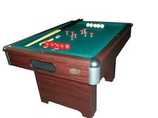Master bumper pool table in walnut with cue sticks u0026 balls~slate bed~ new lhvvfkx
