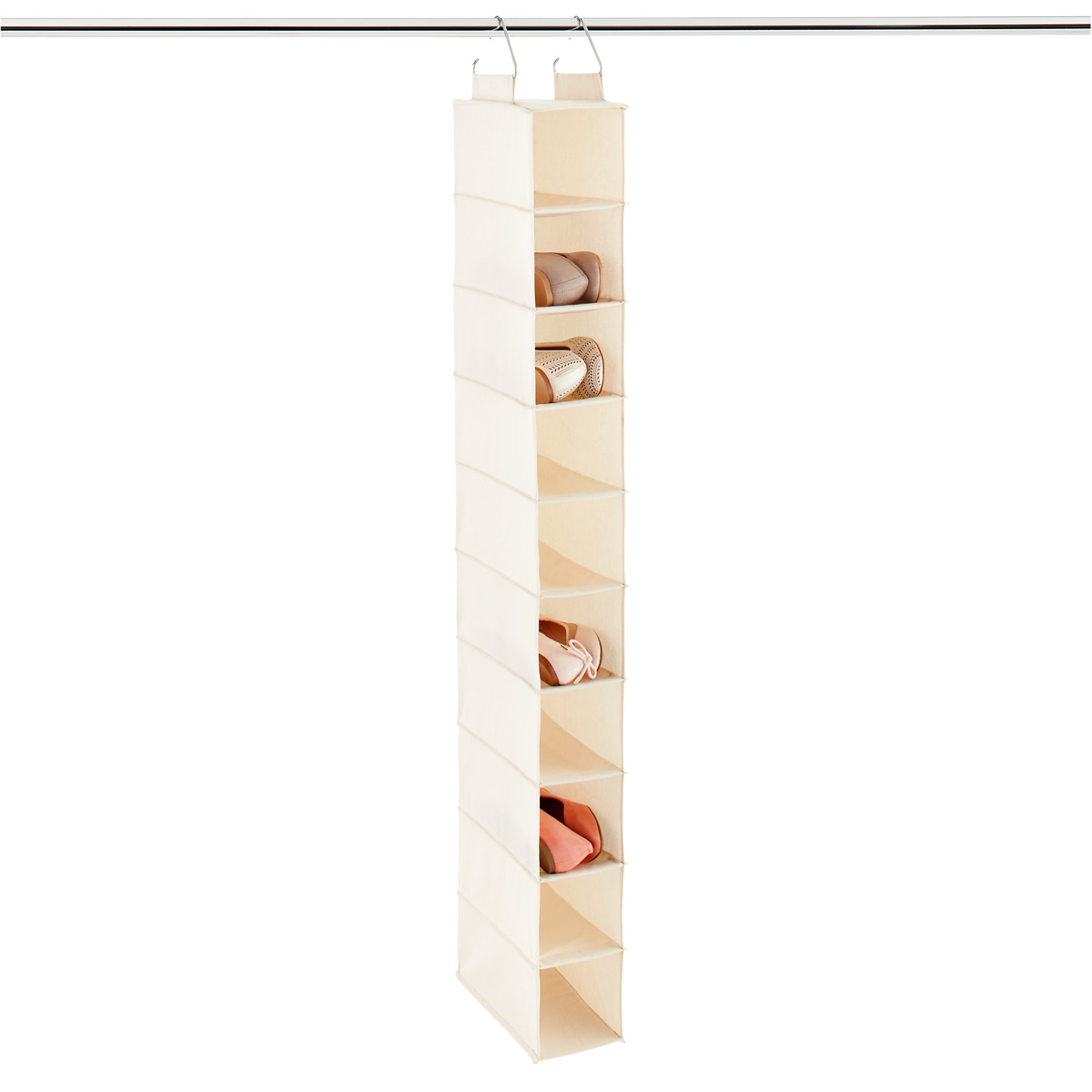 Master hanging shoe organizer 10-compartment canvas hanging shoe bag tylcxjb