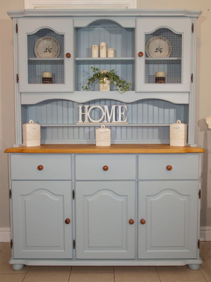 Master kitchen dresser blue farmhouse / welsh dresser www.chicmouldings.com yiouimx