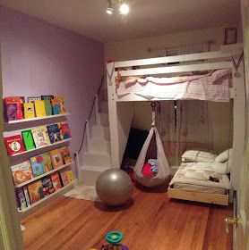 Master loft beds for kids kids space: loft bed, bunk bed build with hanging toddler bed and swing! zznhgbh