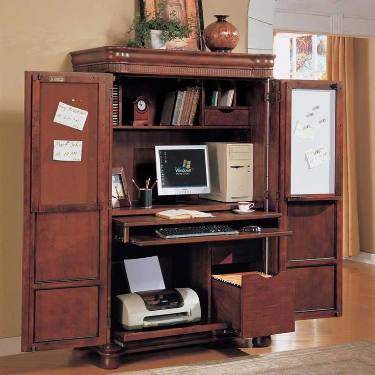 Modern computer armoire office armoire with doors | computer corner armoire to facilitate your work uvvyubi