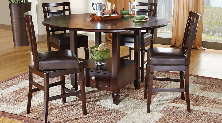 Modern counter height dining sets landon chocolate 5 pc counter height dining set zhhmwiy