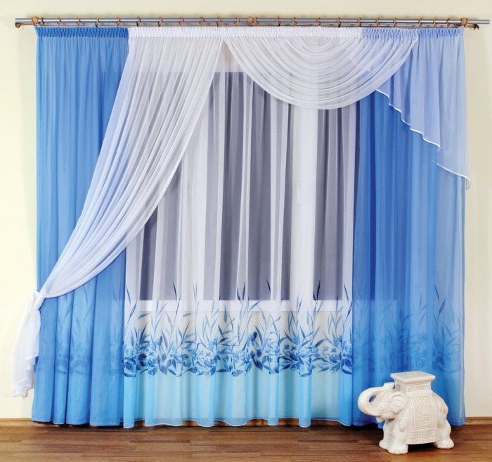 Modern curtains design blue and white curtain design vyahzhk