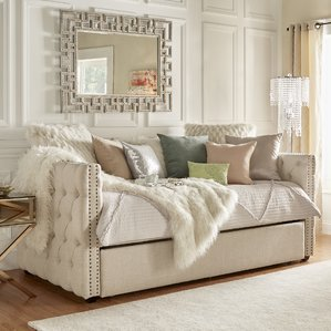 Modern day beds ghislain daybed with trundle ofdhapm