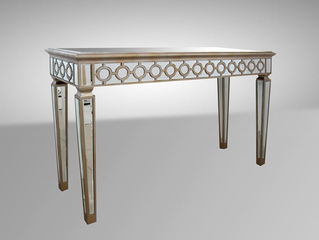 Modern hyde transitional mirrored console table hdzoocn