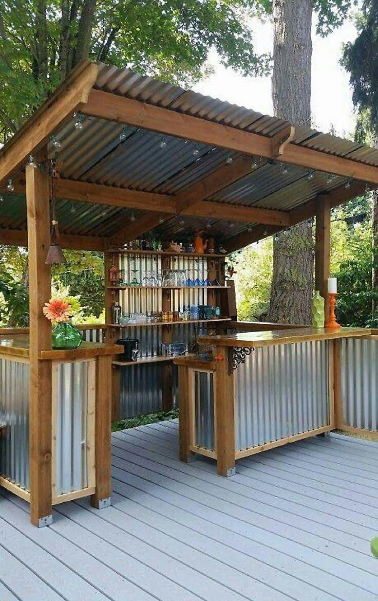 Modern outdoor bar 27 amazing outdoor kitchen ideas your guests will go crazy for ooawmns
