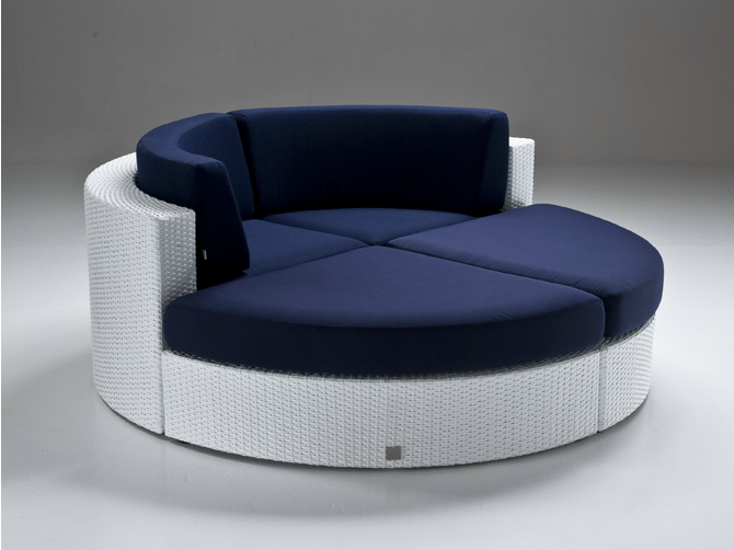Modern round sofa bahia indoor-outdoor round couch aafoobd