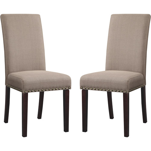 Modern upholstered dining chairs dhi nice nail head upholstered dining chair, set of 2, multiple colors - tpqtojx