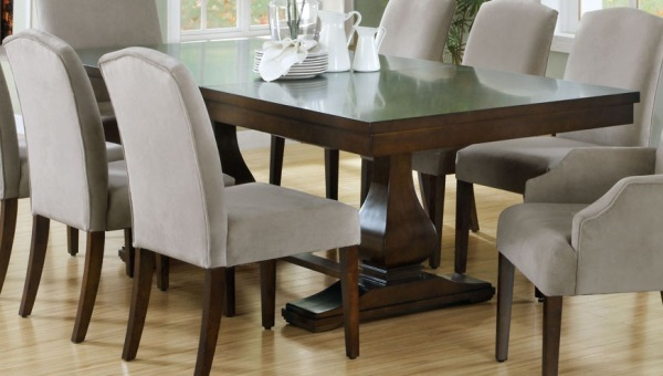 Modern wooden dining tables view in gallery fausder