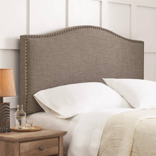 Modular better homes and gardens grayson linen upholstered headboard with  nailheads, multiple colors, ysipnhq