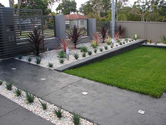 Modular front garden ideas small easy modern front yard landscaping ideas on a budget pictures qmynjyq