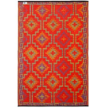 Modular indoor outdoor rugs fab habitat lhasa indoor/outdoor rug, orange u0026 violet, (5u0027 x 8u0027) xdiqsqi
