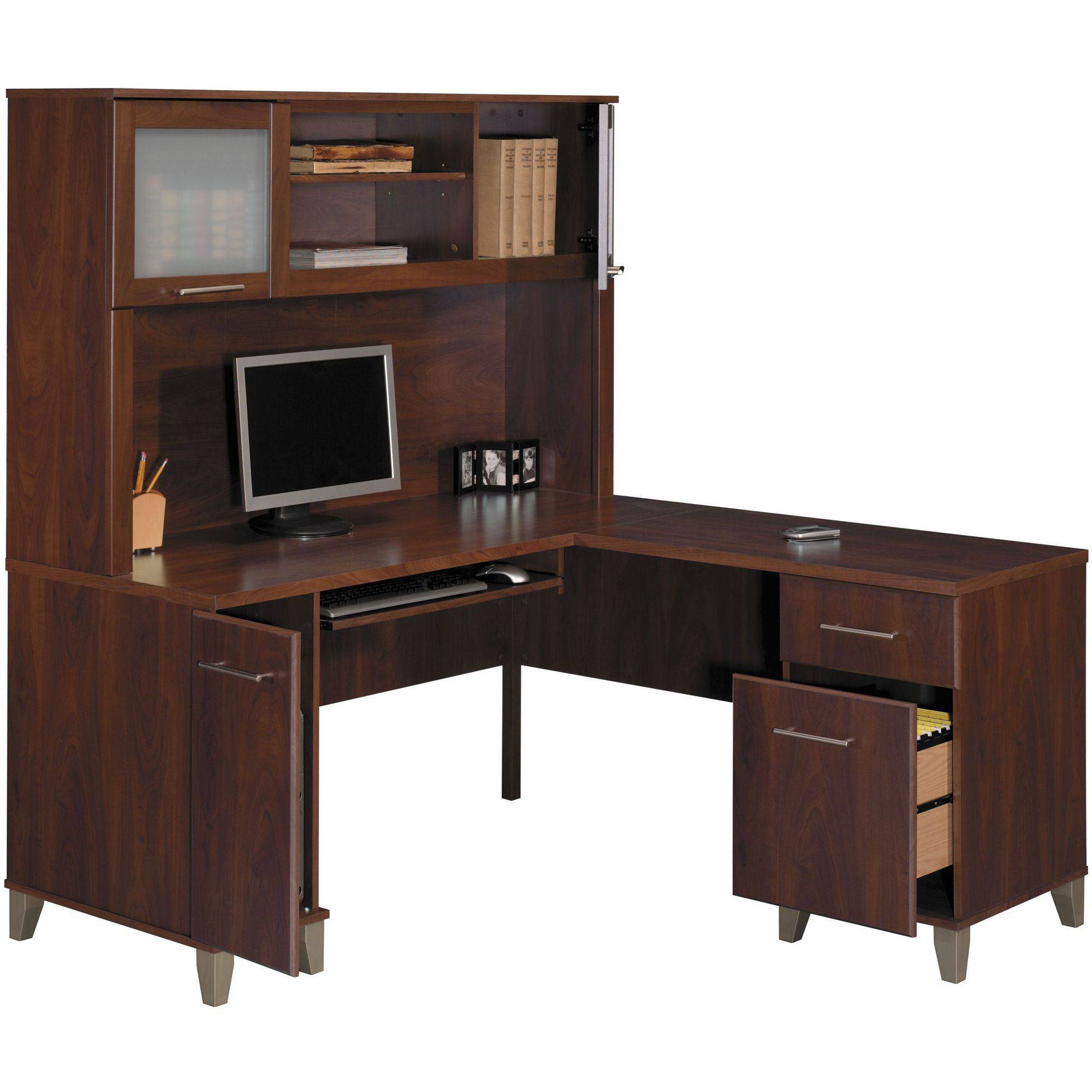 Modular l shaped computer desk bush somerset 60 vagjnkw