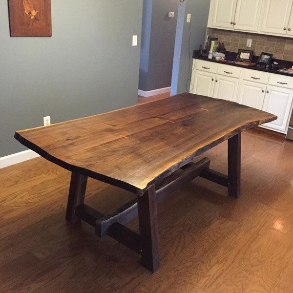 Modular live edge walnut dining table by kheatondesign on etsy https://www.etsy mqkpcmy