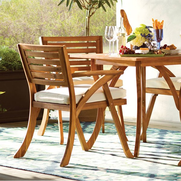 Modular outdoor table wood patio furniture uobfnjg